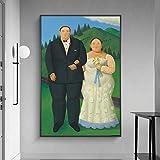 wZUN Pintura al óleo de la Boda del país sobre Lienzo, Carteles de Arte y Fotos, imágenes artísticas, decoración del hogar 60x90 Sin Marco