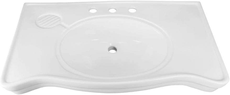 Bathroom Console New York Mall Sinks Deluxe Belle Max 86% OFF Porcelain White Reno Epoque