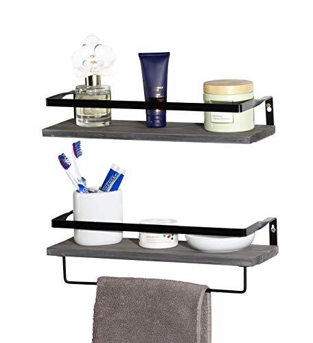 AHDECOR Floating Wall Mounted Shelves, Set of 3 Display Ledge Shelves Wide Panel for Bedroom Office Kitchen Living Room, 5.9