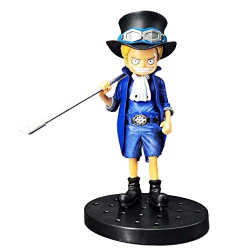 SWWLKJ High 15CM One Piece Childhood Saab Three Brothers Boxed Sculpture Gift Model Artwork Anime
