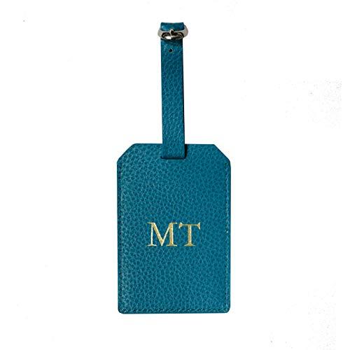 test Gepäckanhänger mit Lederinitialen, Adressetiketten und individuell gravierter Personalisierung,… Deutschland