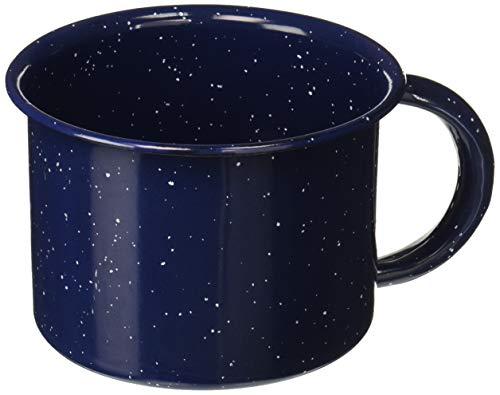 IMUSA USA C20666-10977W Speckled Enamel Mug 1.25-Quart, Blue