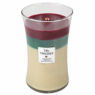 CHRISTMAS CLASSIC WoodWick Trilogy 21.5 oz Scented Jar Candles - 3 in One