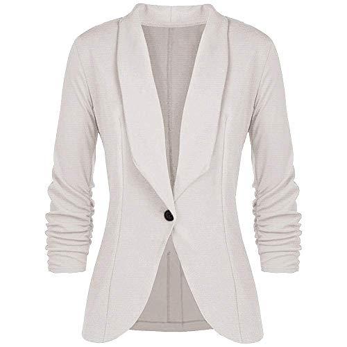 Adelina Dames blazer getailleerd korte elegante lange mouwen slim kantoor jassen pak modieus casual korte blazer jas outwear