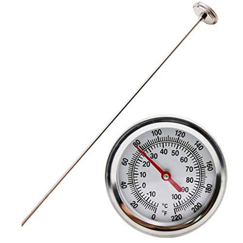 Preisvergleich Produktbild Almabner Kompostthermometer,  Kompostthermometer,  Edelstahl,  Kompostthermometer,  Bodenthermometer für Hinterhof,  Messsonde,  Messsonde und Thermometer,  Nicht Null,  Silber,  Free Size