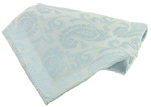David Van Hagen Canard bleu des oeufs du Grand Paisley Silk mouchoir de