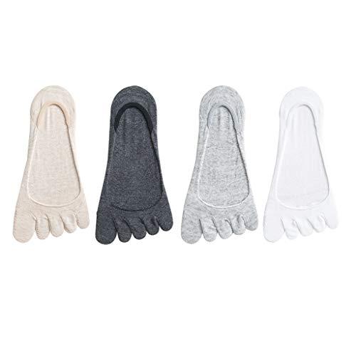 Xu Yuan Jia-Shop Calcetines No Hay 4 Pares Calcetines for Las Mujeres, algodón Fino Escotado Casual Calcetines Calcetines Adulto (Color : D)