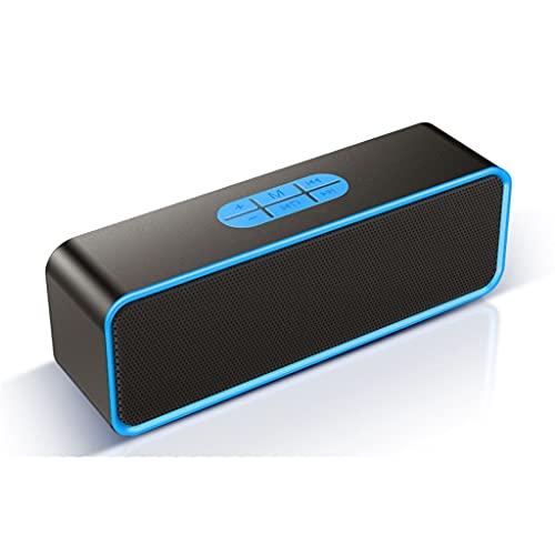ZZNNN Altavoz Bluetooth inalámbrico de Escritorio pequeño subwoofer estéreo 3D Envolvente portátil al Aire Libre (Color : Blue)