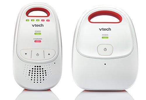 VTech Baby BM1000 Digital Audio Baby Monitor, White/Red