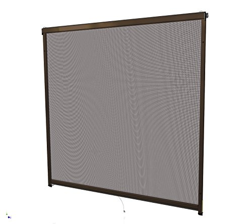 Rhino Screen 38335 Rollofenster 160x160 braun Insektenschutz Rollo Fenster, 160 x 160 cm