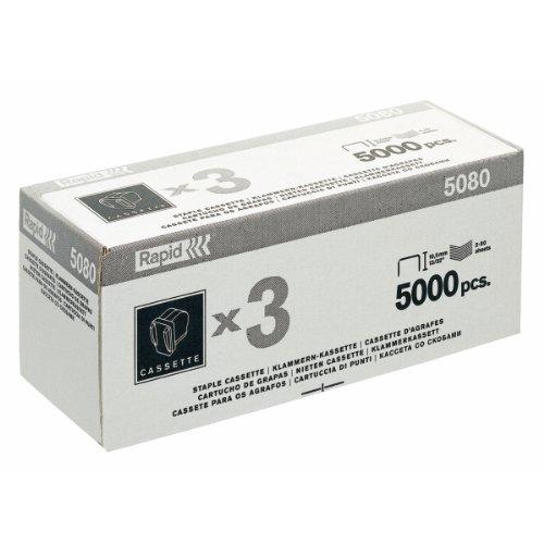 Rapid 20993701 Heftklammer-Kassette 5080, für elektrisches Heftgerät 5080e, 3x5000 Stück