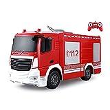 Moerc RC Fuego Fire Truck Camión Simulación eléctrica Fuego Motor de Juguete Características del Coche Cañón de Agua y Luces frías 2.4GHz Radio Fuego Fuego Vehículo de Lucha pa