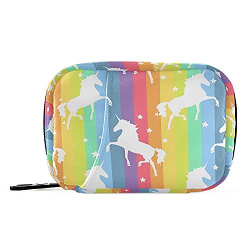 Naanle Star Rainbow - Pastillero para 7 días, bolsa organizadora de píldoras de viaje, con cremallera, portátil, tamaño compacto para soporte de suplemento de vitamina
