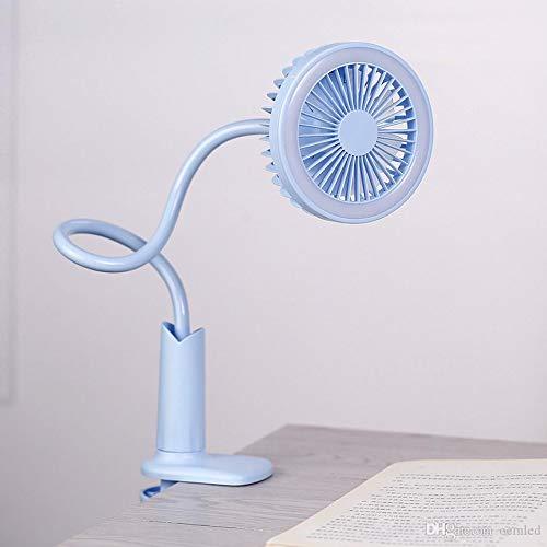 Ventilador Portátil Flexible Con Luz Led, Huasa (Azul)