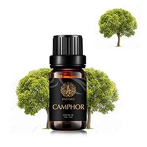 Aromaterapia alcanfor aceite esencial para difusor, 100% puro Alcanfor Aceite Perfumado para humidificador, 0,33oz-10ml Grado Terapéutico alcanfor fragancia Aceite Esencial para Masaje, Casa