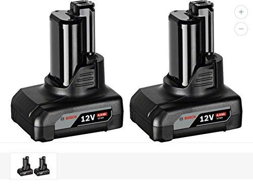 Bosch Professional 12V Akku-Set (2 x GBA 4, 0 Ah, click&go, ohne Ladegerät, kompatibel mit 10, 8V) 1600Z00045