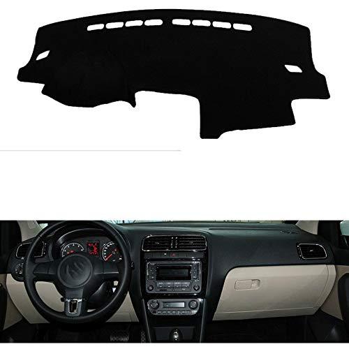 MATBC Sombrilla para instrumentos de coche Cubierta Del Salpicadero Sombrilla Antideslizante Alfombrilla Antideslizante Alfombra Pegatinas Para El Automóvil Accesorios Interiores, Para Volkswagen Polo 2013-2018