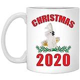Regalo divertido de la Navidad 2020 para los amantes de las cacatúas Taza de café blanca de 11 onzas