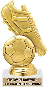 Personalized 4 Soccer Trophy w Spinning Soccer Ball Economy Soccer Trophy Kids Jr Soccer Team Trophy Soccer Ball FREE Engraving