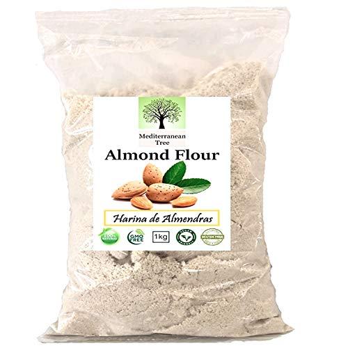 Farine d'Amande 1 Kg - Sans Gluten - Régime Idéal Keto et Macarons - Première Qualité - Fine Milled - 100% Naturel - Vegan