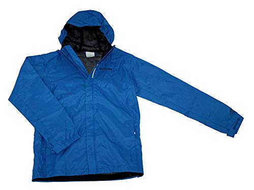 Columbia Youth Boys Timber Pointe Omni Tech Rain Hooded Waterproof Jacket Blue (L 14/16)
