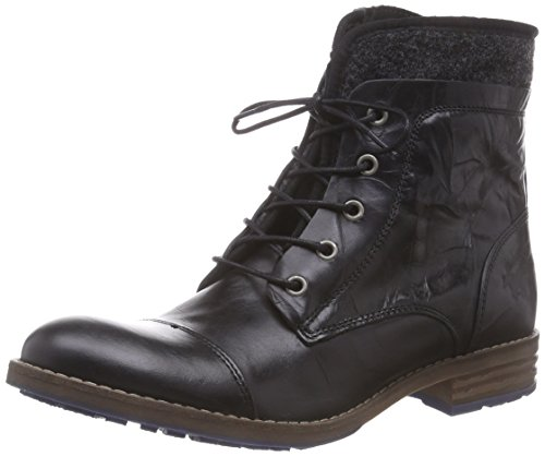 MUSTANG Damen Schnür-Booty Biker Boots, Schwarz (9 schwarz), 42 EU