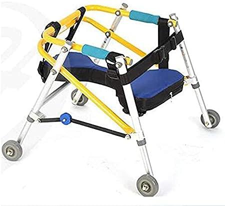 Caminantes estándar Caminante con parálisis cerebral, ayuda para la rehabilitación de miembros inferiores para niños Soporte de entrenamiento Caminante direccional Cuatro ruedas Miembro inferior