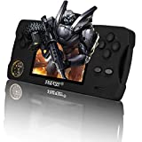 JJFUN Handheld Game Console, Retro Games with 32G TF Card Built-in 480 Old School Games 3.5-Inch Screen Support for Connecting TV & Two Players 1800mAh Rechargeable Battery Present for Kids(Black)