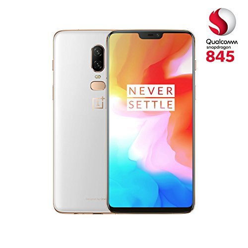 "OnePlus 6 - Smartphone de 6.22"" (full optic AMOLED, procesador Snapdragon 845, memoria de 8 GB RAM y 128 GB ROM), Blanco (Silk White)"
