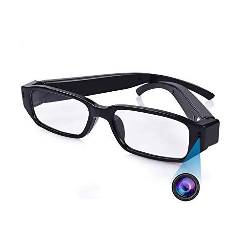 Mini Brille Kamera, KAMREA HD 1080P Überwachungskamera, Videorecorder, Tragbare Nanny Cam mit Video, Foto und Tonaufnahme für Unterricht, Interview, Konferenz, Innen, Außen