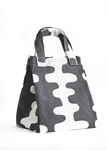 MAIKA Recycled Canvas Lunch & Pie Tote, Echo Charcoal, Grey