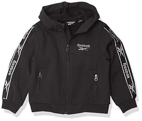 Reebok BOY Soft Woven Jacket w. Knit Rib, 01A BLACK, 2T