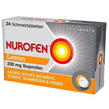 Nurofen Schmelztabletten Lemon bei Kopfschmerzen ab 6 Jahren 200mg, 24 St. Tabletten