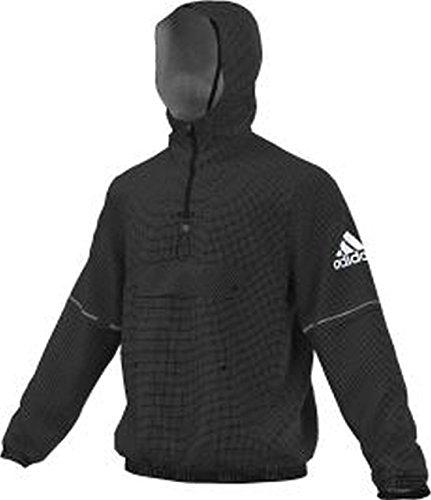 Adidas Side Anorak Veste Homme, Noir/Blanc, FR (Taille Fabricant : XS)