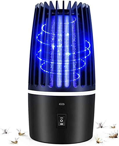 Flagicon Lámpara Antimosquitos Eléctrico, USB Recargable Bug Zapper 2 en 1 Portátil Linterna de Camping LED Luce UV LED Insectos Trampa, Matar Mosquitos, Moscas, Polillas, para Hogar