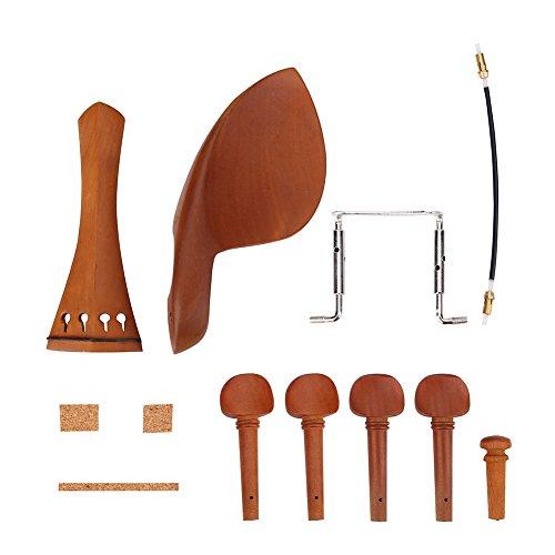 1Set 4/4 Holz Violine Teile mit Kinn Rest Endpin Saitenhalter Kork Holz Wirbeln Schraube Schwanz gut Violine Accessory Kit