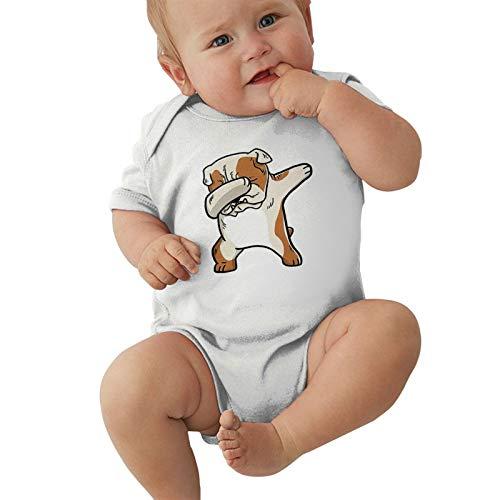 Pijama unisex para bebés y niñas, de 0 a 2 t, blanco, 12 Meses