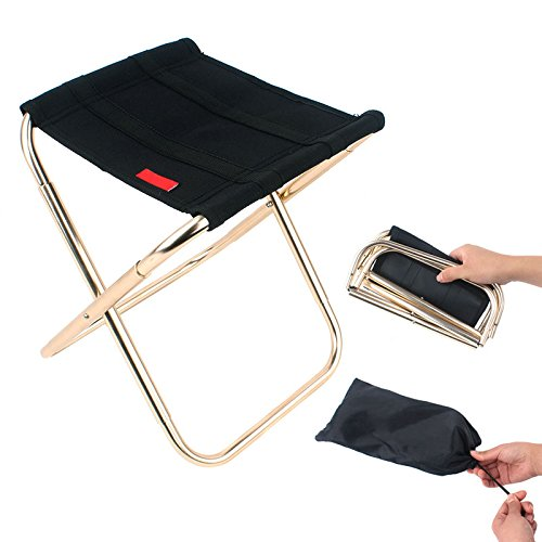 ZS ZHISHANG Portable Folding Stool Fold up Lightweight Camp Aluminium Stools Seat for Camping Fishing Picnic Travel and Hiking Foldable Chairs