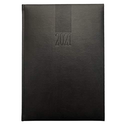 Planungsbuch/Praxiskalender DIN A4, 1 Tag/2 Seiten, Jahr 2021, schwarz