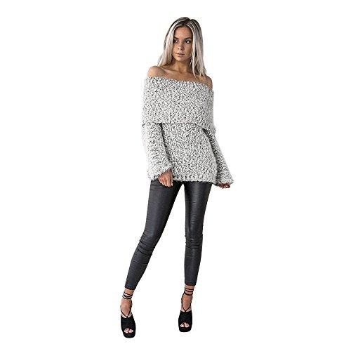 Alikeey Dames Sexy schoudervrij, casual lange mouwen, pullover, mantel blouse tumblr esprit sweatshirt