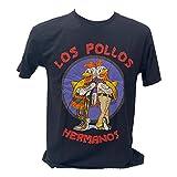 ブレイキングバッド Los Pollos ガス・フリング ハイゼンベルグ プリントTシャツ 黒 ブラック (S) [並行輸入品]