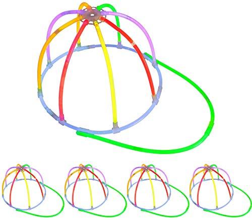 5 Knicklichter Leucht Kappen | KNALLBUNT | Leucht Caps | Komplett-Set