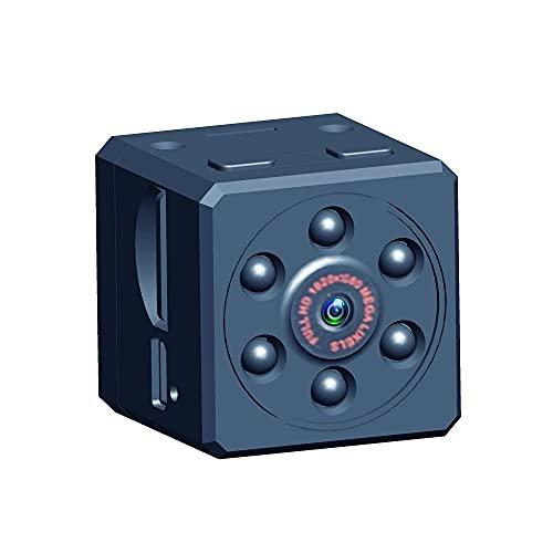 BZM Mini cámara oculta portátil HD 1080P mini cámara espía con sensor de movimiento inalámbrica para interior y exterior con tarjeta SD de 32 GB