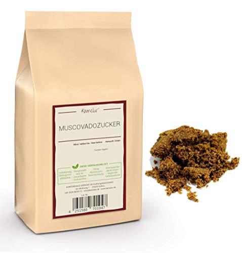 1kg Muscovado Zucker dunkel - reiner Vollrohrzucker aus Mauritius, ohne Zusätze