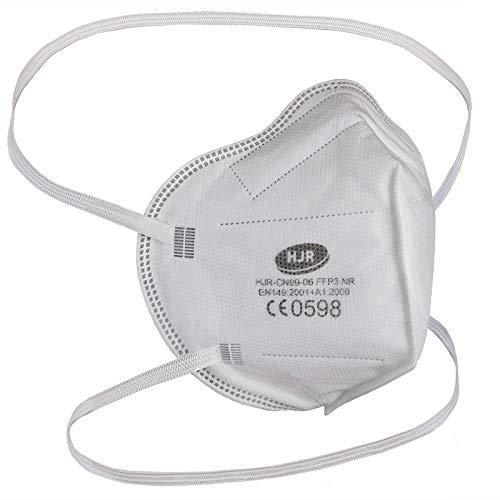ALPIDEX Maske FFP3 Filterleistung 99% CE Zertifiziert Faltbar Einzeln Verpackt FFP 3 Mundschutz, Menge:20 Stück, Modell:FFP 3 ohne Ventil