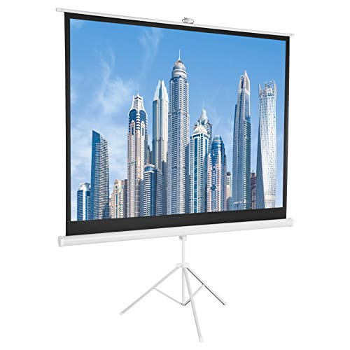 AmazonBasics 4:3 Portable Projector Screen - 100 inch (254 cm), White