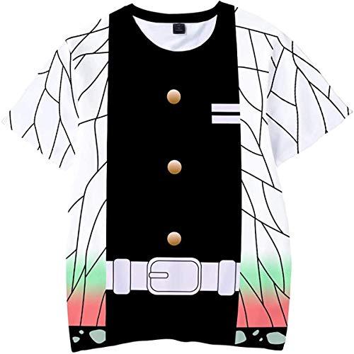 鬼滅の刃 夏用 半袖 子供服 tシャツ キッズ 男の子 女の子 半袖 記念シャツ Tシャツ 鬼滅の刃Tシャツ 100-160cm (130, 1#)