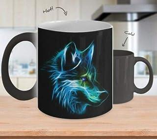 JIPIMUG Lighting Wolf - Color Changing Mug - Perfect Mug - 11OZ Coffee Mug