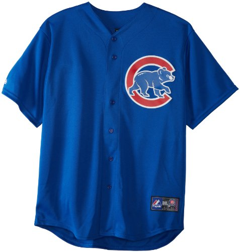 Majestic MLB Chicago Cubs Alternate Replica Trikot Royal, Herren, 6700-CUBA-EJ-RJA, königsblau, S