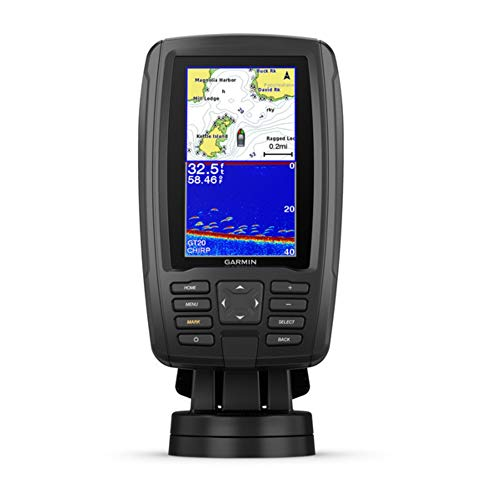 Garmin ECHOMAP Plus 44cv, 4.3-inch Sunlight-readable Combo, Includes GT20 Transducer, with Bluechart G3 Maps and Clearvu and Traditional Chirp Sonar